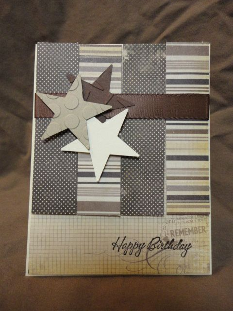 Items similar to Men Vintage Masculine Birthday Card on ...