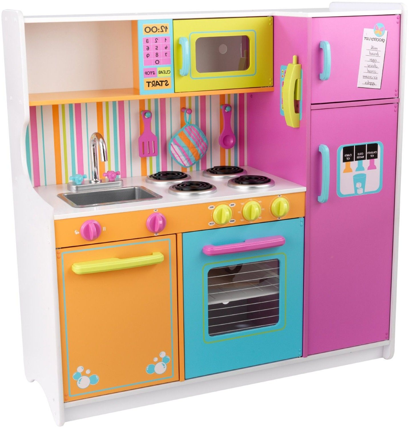 kidkraft deluxe big bright kitchen toys games from Wooden