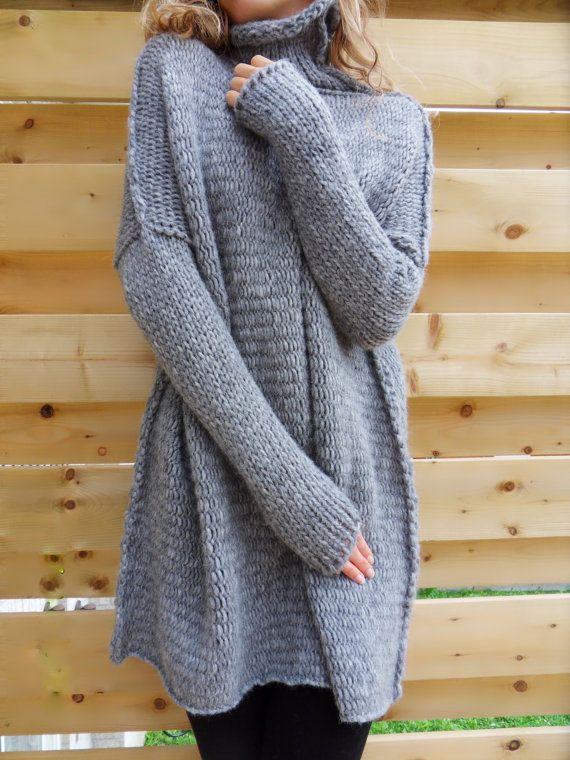 c086b0c80f9 Oversized/Slouchy/Loose knit sweater. Alpaca blend sweater. Chunky ...