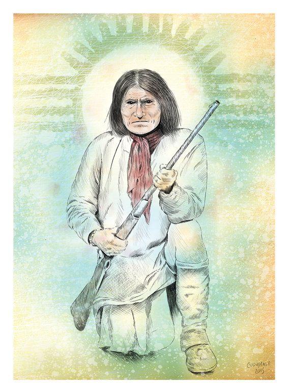 Geronimo Illustration (Print)
