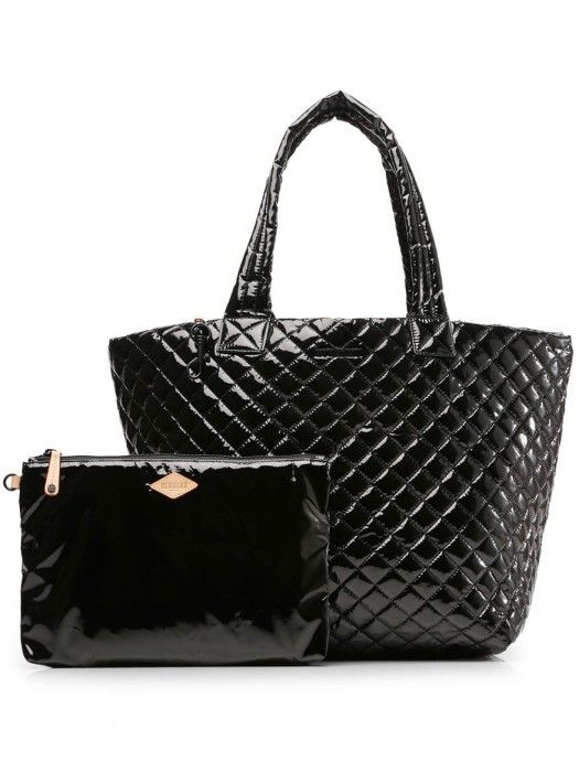 d6fe5a7eb2eef0 MZ Wallace Large Metro Tote in Black Lacquer Oxford