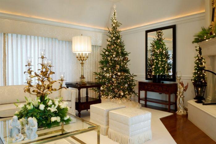 Weihnachtsdeko Wohnzimmer ~ Weihnachtsdekoration ideen christbaumschmuck weihnachtsbaum