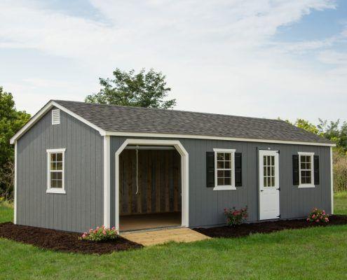 14x30 Shed With Garage Door Shed Shed Sizes Garage Doors