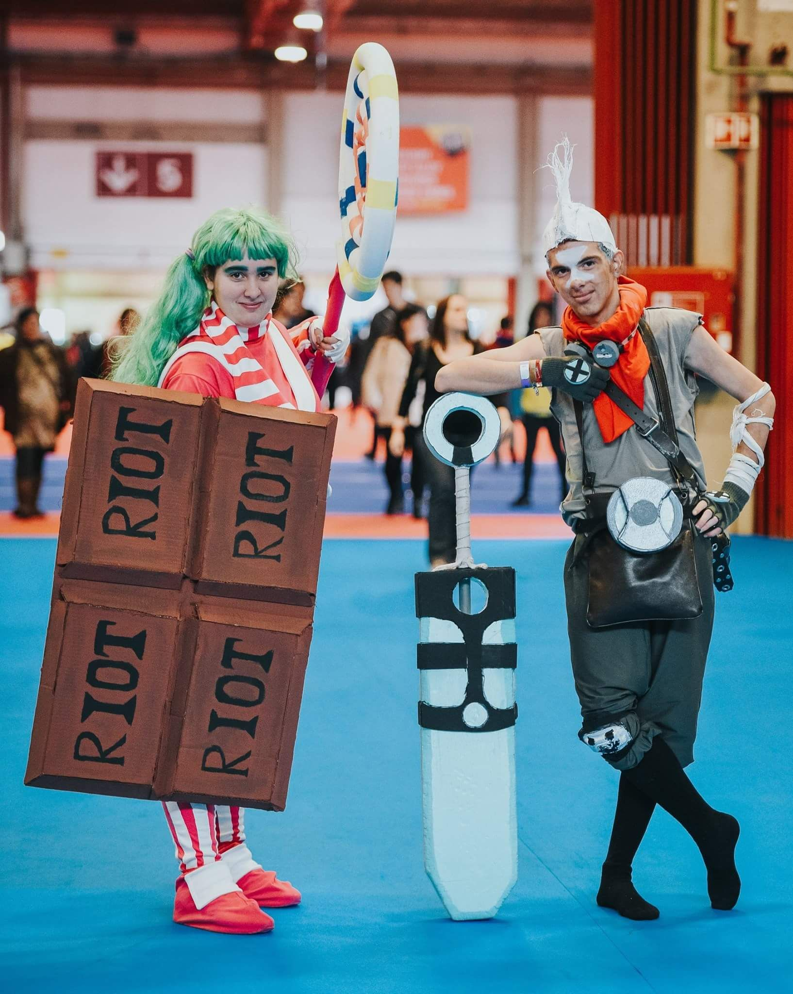 Ekko And Lollipoppy League Of Legends Comiccon Comic Con League Of Legends Cosplay