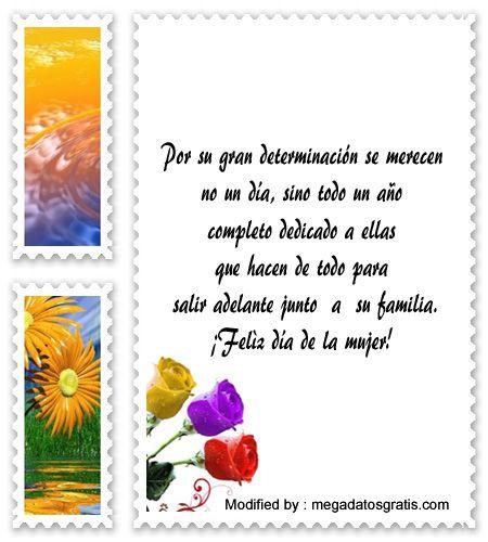 los mejores mensajes y tarjetas por el dia de la mujer,descargar bonitas  dedicatorias por