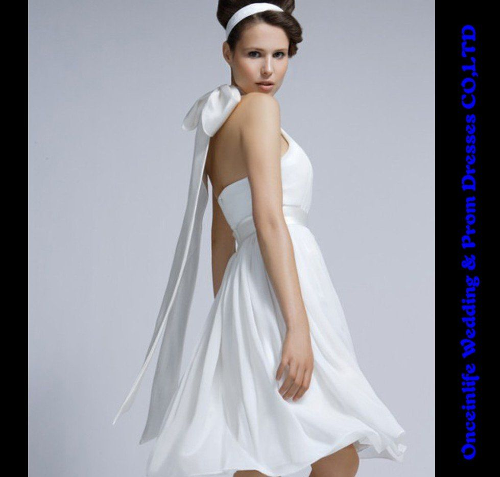 Free Shipping Whlosale &Retail Taffeta Halter Wedding Wear Dress ...