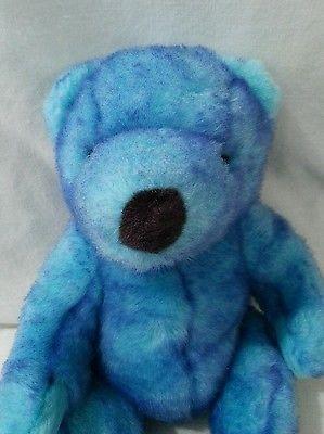 640ccb5f909 Blueberry Ty Beanie Bear 1999 Retired Teddy Plush Purple Tipped Blue ...