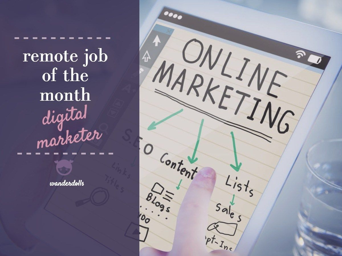 Remote Job of the Month Digital Marketing Strategist