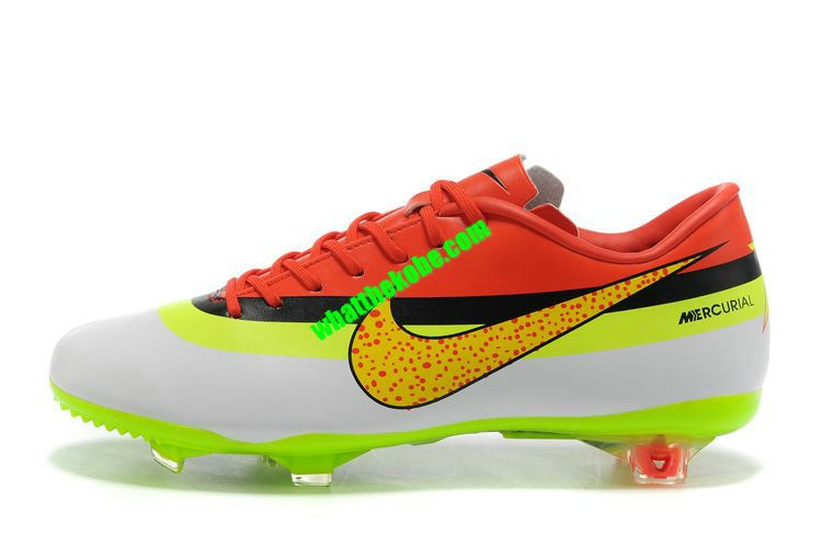 8739583c1ca Nike Mercurial 2013 Cristiano Ronaldo Cleats Vapor VIII FG Cristiano Ronaldo  Cleats - White Green Gold Black Red