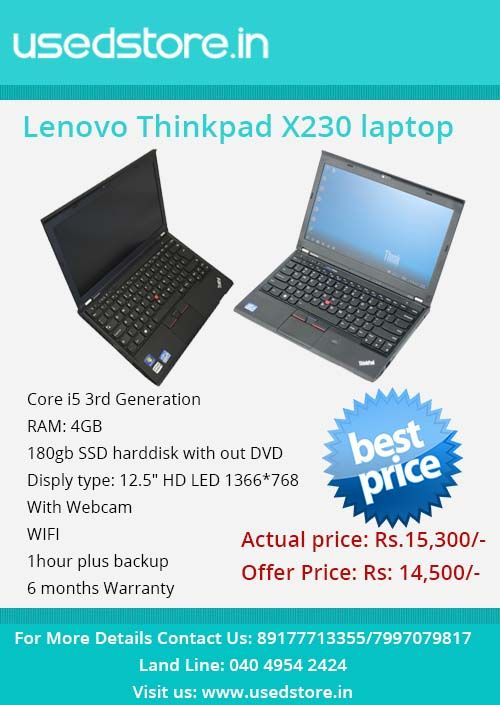 Pin by UsedStore on Refurbished Lenovo Thinkpad X230 | Laptop