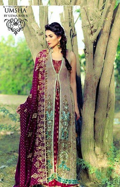 Umsha by Uzma Babar Pakistani Bridal Wear Latest Fashion 2015 ...