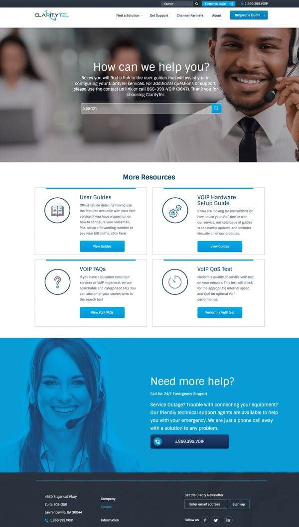 Telecom And Voip Company Website Design Voip Website Design Web Design