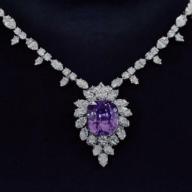 Harry winston with an ultra rare 6532 carat pink purple sapphire harry winston with an ultra rare 6532 carat pink purple sapphire and aloadofball Images