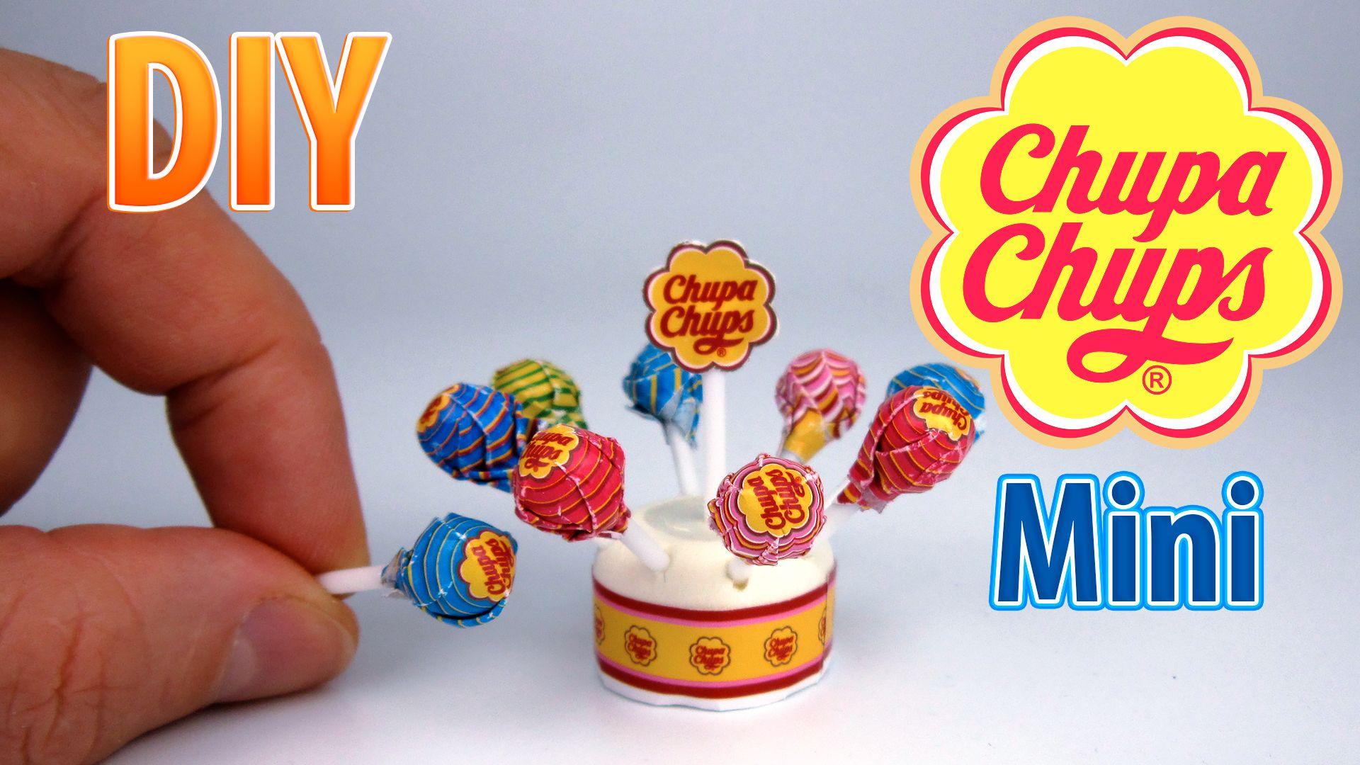 Diy miniature chupa chups lollipops miniatures kids