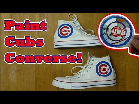 How to Paint Chicago Cubs Converse