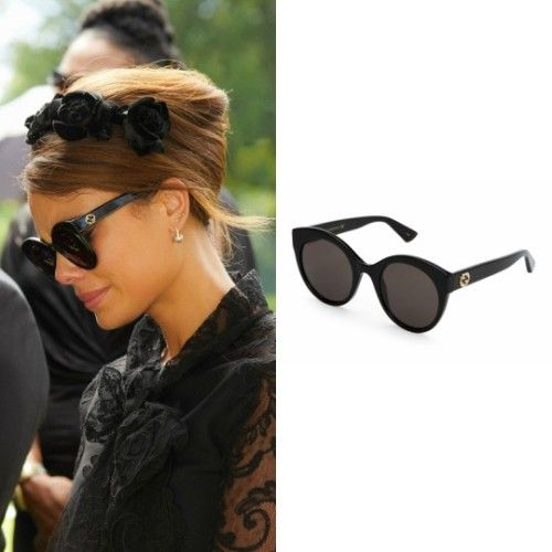 cc1baad4403 Cristal Flores wears these black Gucci cat-eye sunglasses on Dynasty 1x02
