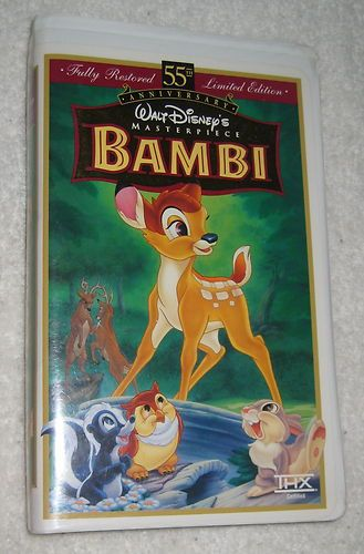 Bambi Clamshell Case Vhs Movie Disney 55th Anniversary Limited