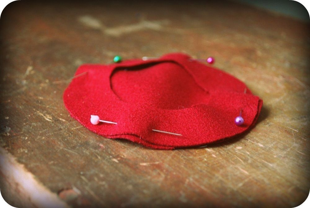 How to make a french beret with felt. | Kayla | Pinterest