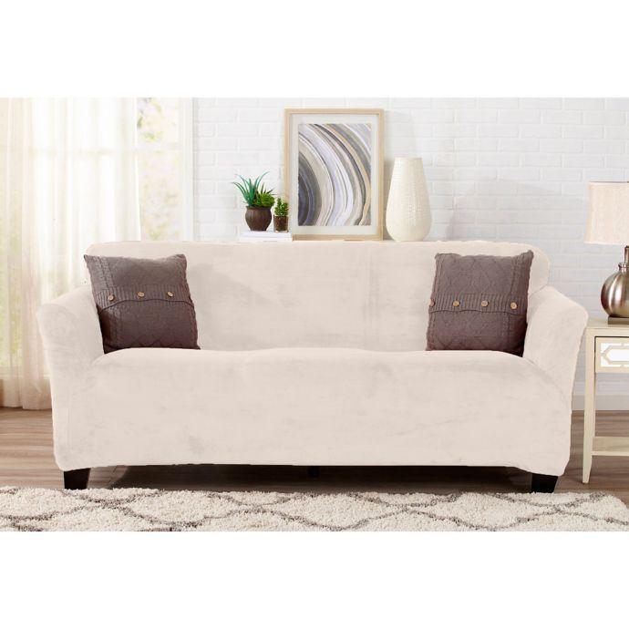 Strange Sofa Saver Velvet Gale Strapless Sofa Slipcover Bed Bath Dailytribune Chair Design For Home Dailytribuneorg