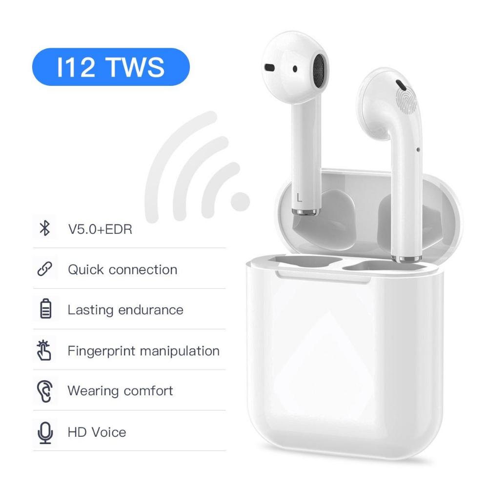 i12 TWS earphone Bluetooth Wireless Handsfree Bluetooth