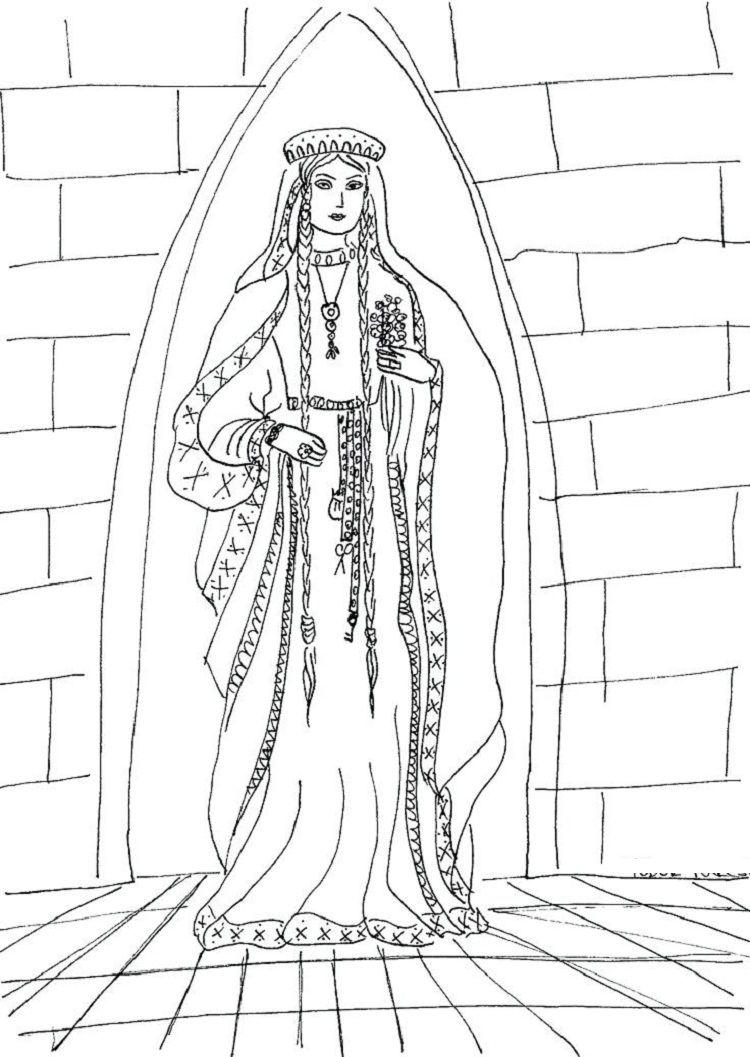 Renaissance Princess Coloring Pages Princess Coloring Princess Coloring Pages Medieval Princess