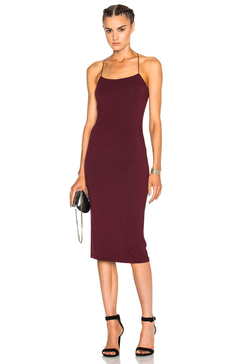 5f376999579 Image 2 of T by Alexander Wang Strappy Tank Dress in Wine   Dress ...