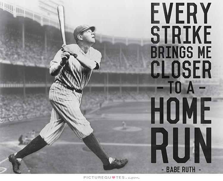 Babe Ruth Quotes Striking Out Babe Ruth Quote Etsy Hpg