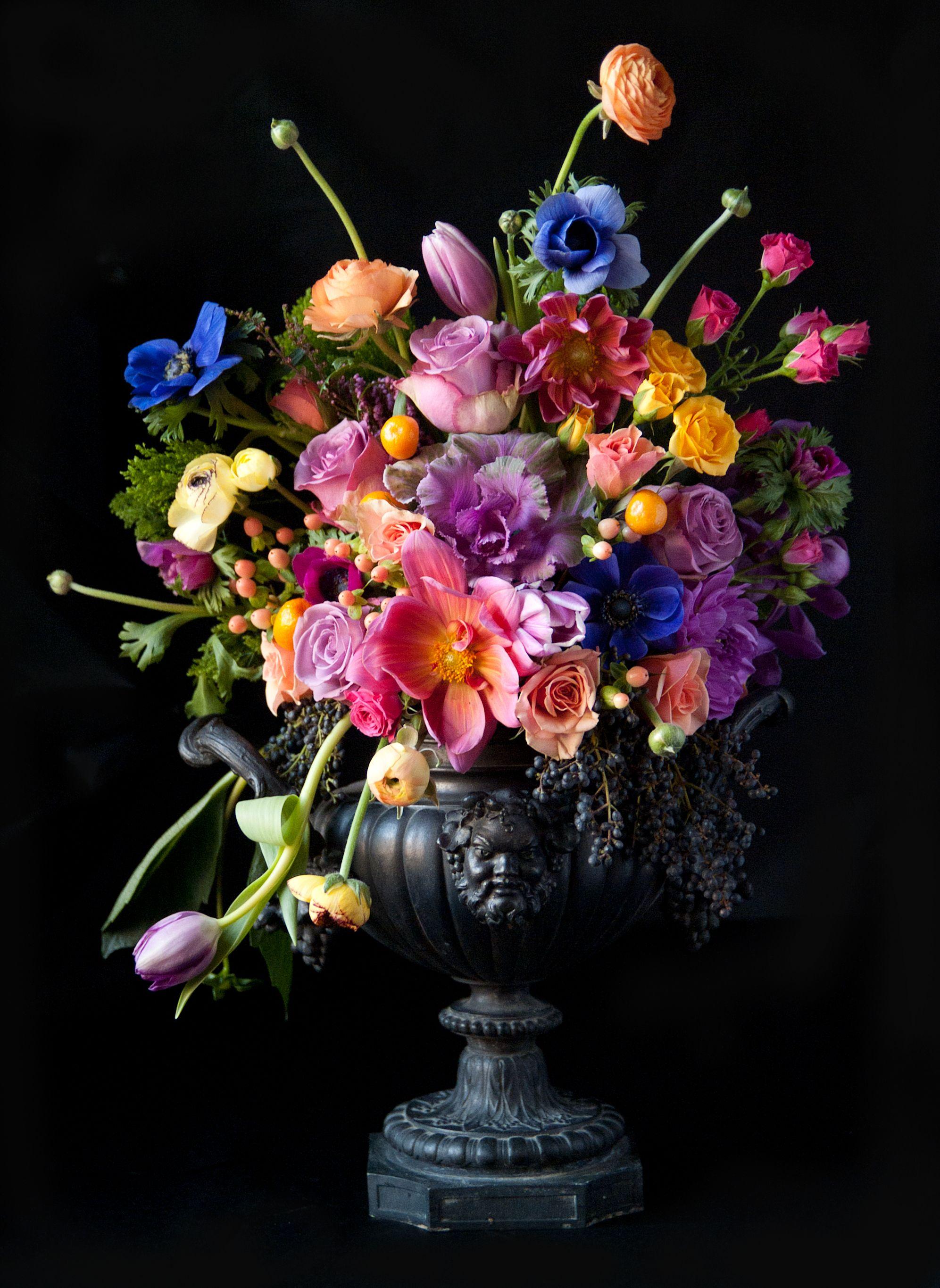 Синие кустики цветов