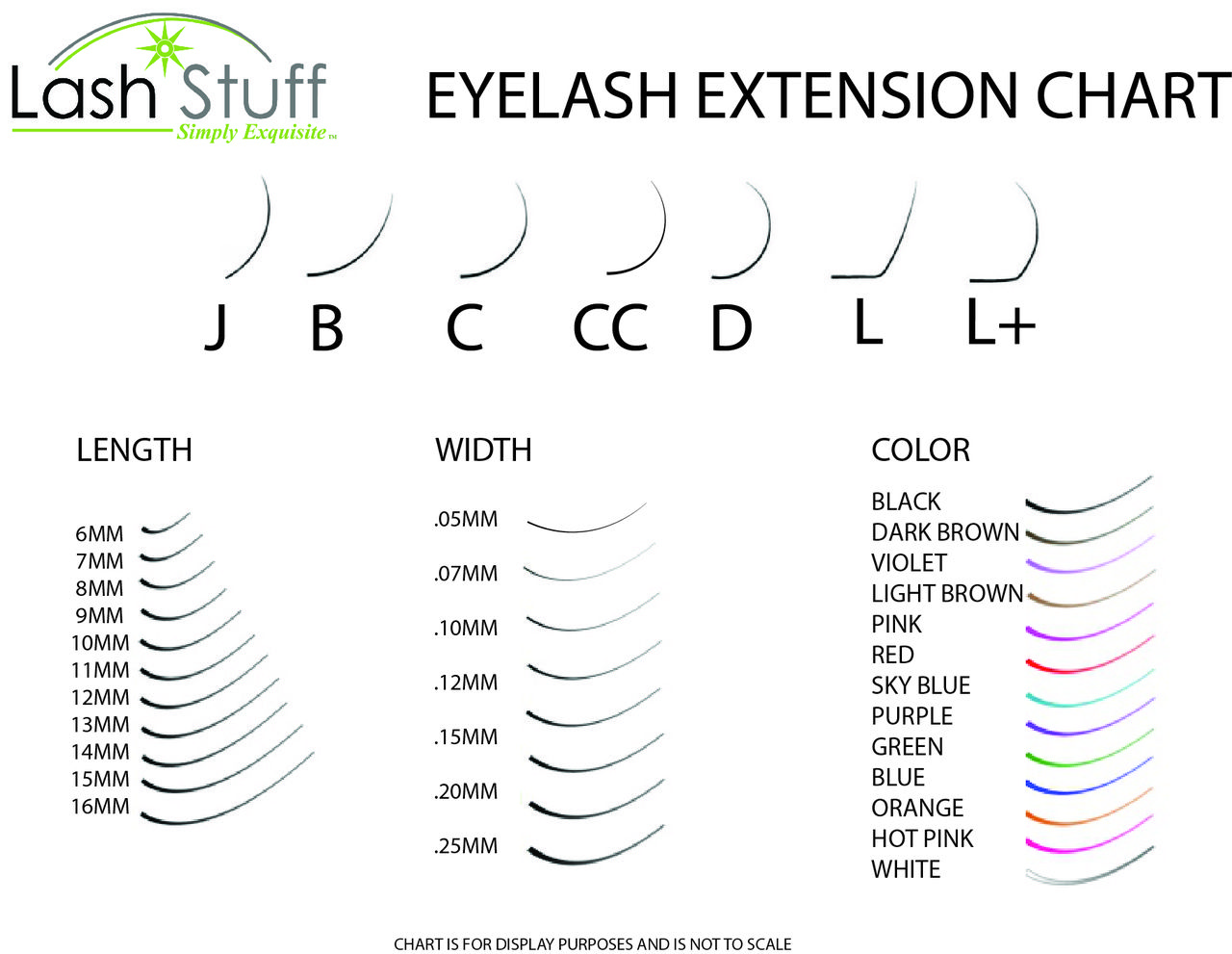 Get free eyelash extension size chart beauty room pinterest get free eyelash extension size chart geenschuldenfo Images