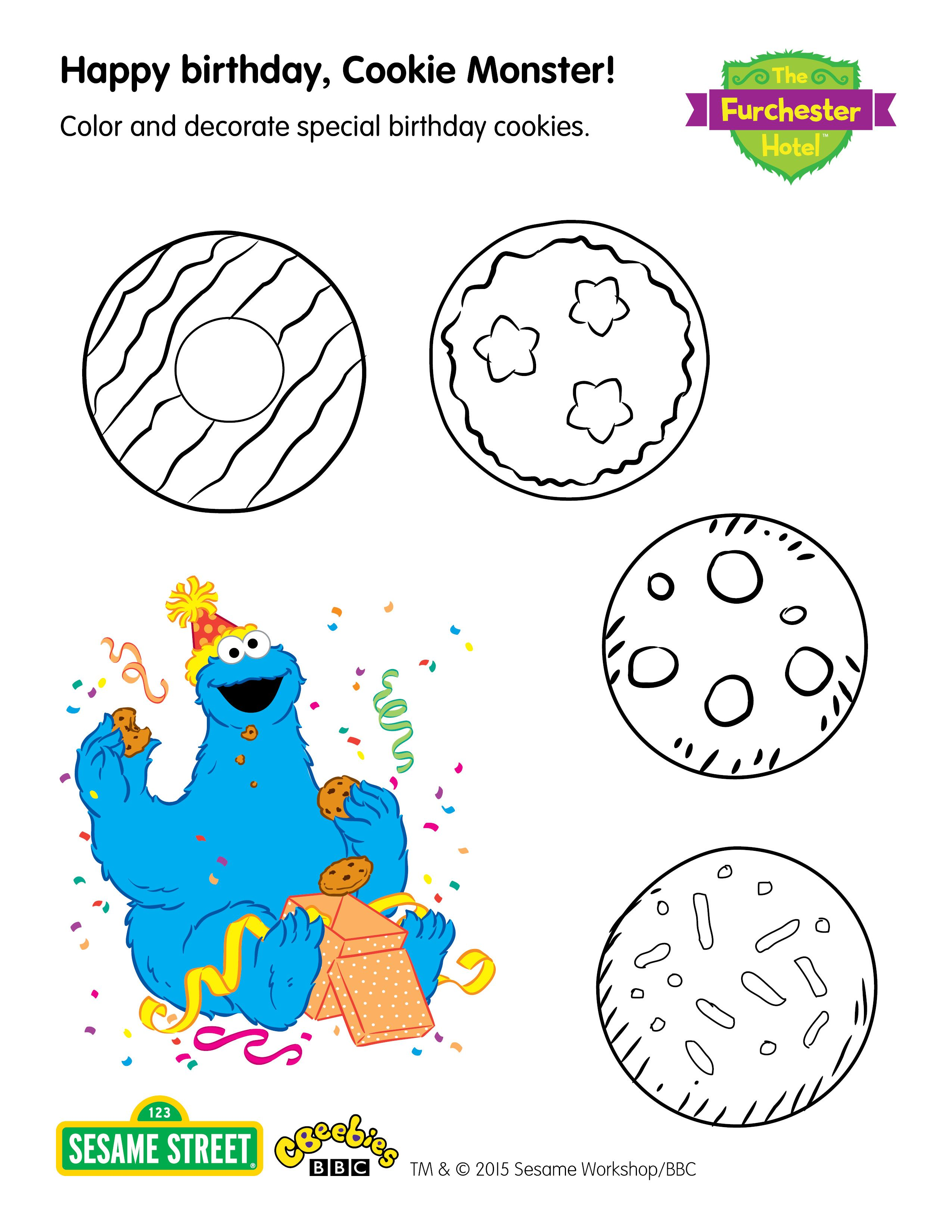 Get Your Kids To Colour In These Cool Cookies For The