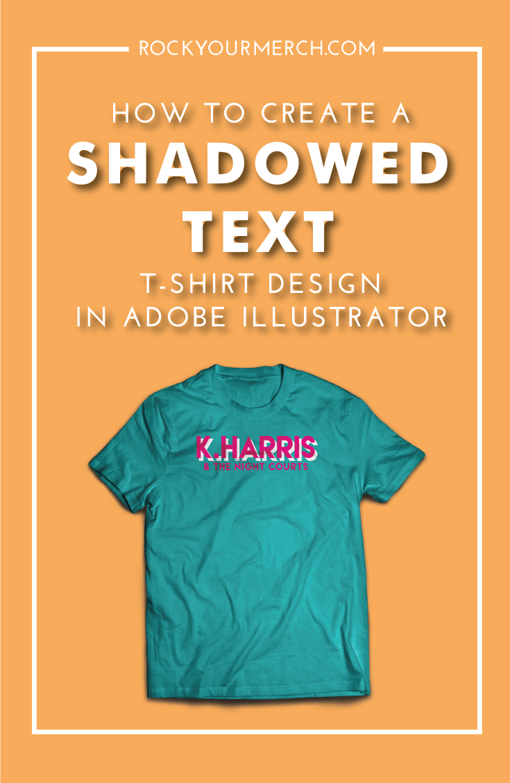 Design t shirt adobe illustrator tutorial - How To Create A Simple Shadowed Text T Shirt Design In Adobe Illustrator