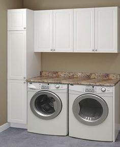 Charmant Laundry Room With Counter Over Washer And Dryer And Pantry   Google Search