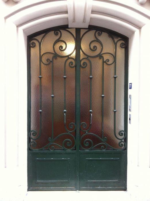 Porte en fer forg adeline our home pinterest - Porte en fer forge exterieur ...