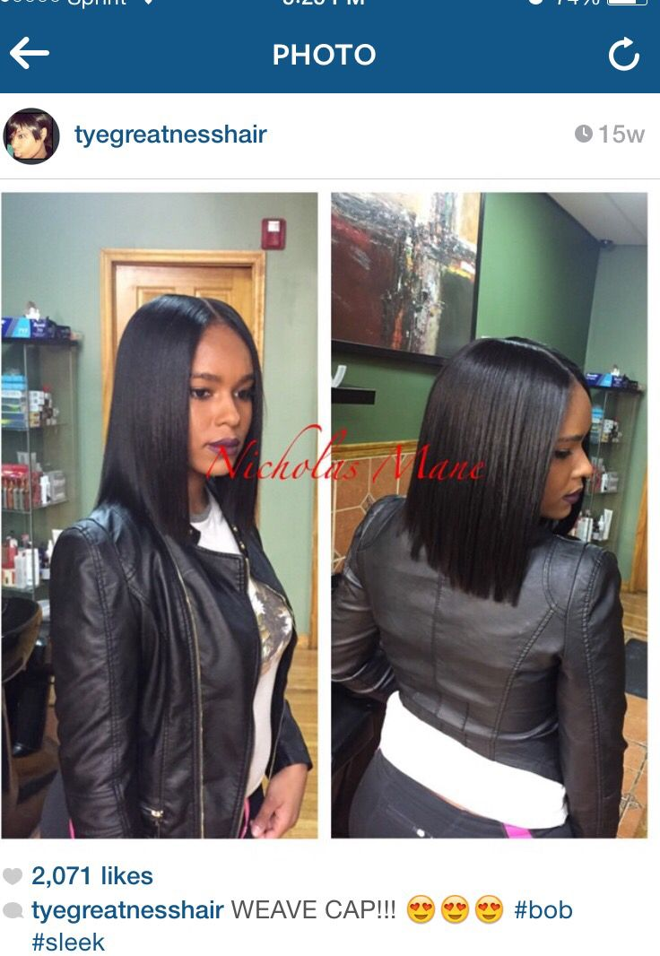 Sleek weave cap bob | Hair Options in 2018 | Pinterest | Hair styles ...