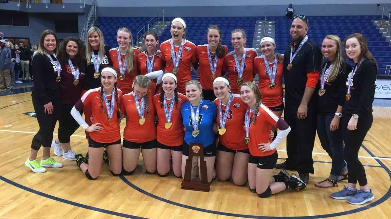 Christ S Church Academy Volleyball Won Their First State Championship In Any Sport Over Naples First Baptist Academy In Four Set Fall Sports Volleyball Sports