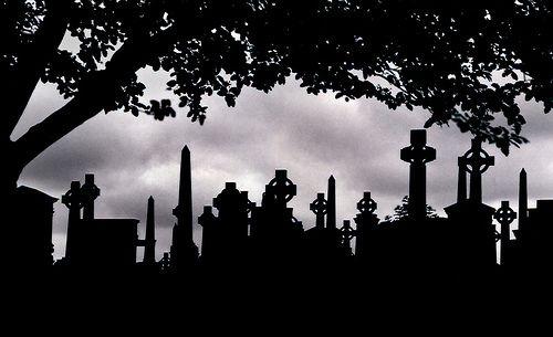 graveyard silhouette in 2018 graveyards cemetery silhouette