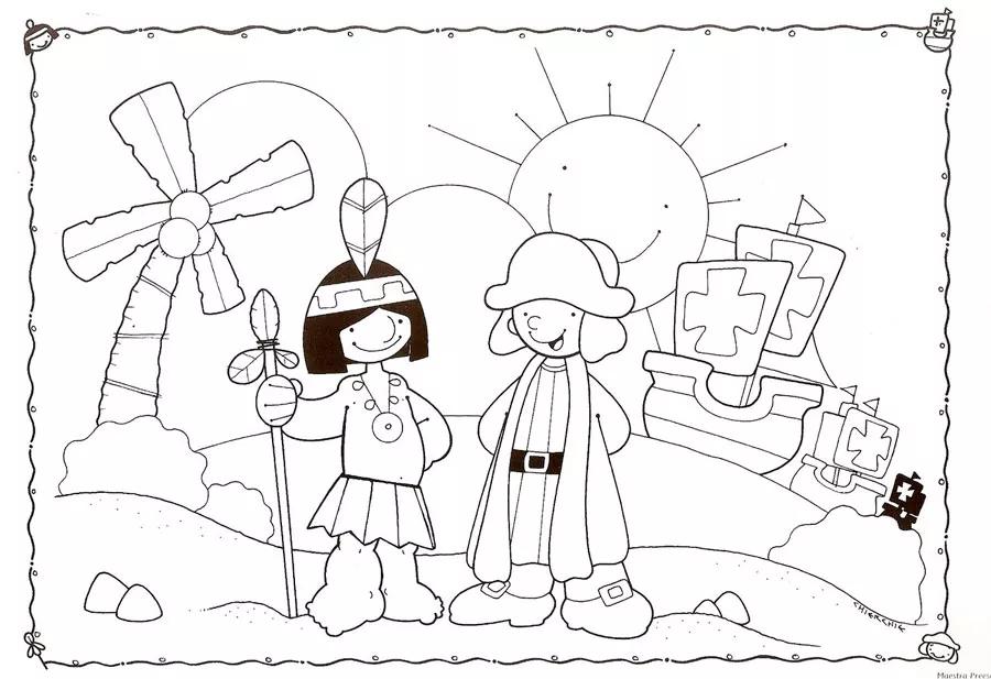 23 Imagenes Del 12 De Octubre De 1492 Dia De La Raza Descubrimiento De America Foros Ecuador 2019 Toddler Activities School Holidays Activities