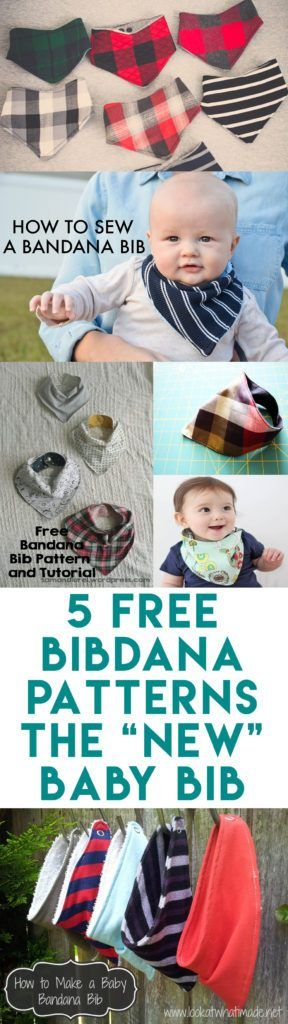 "5 Baby Bibdana Free Patterns | The ""new"" baby bib"