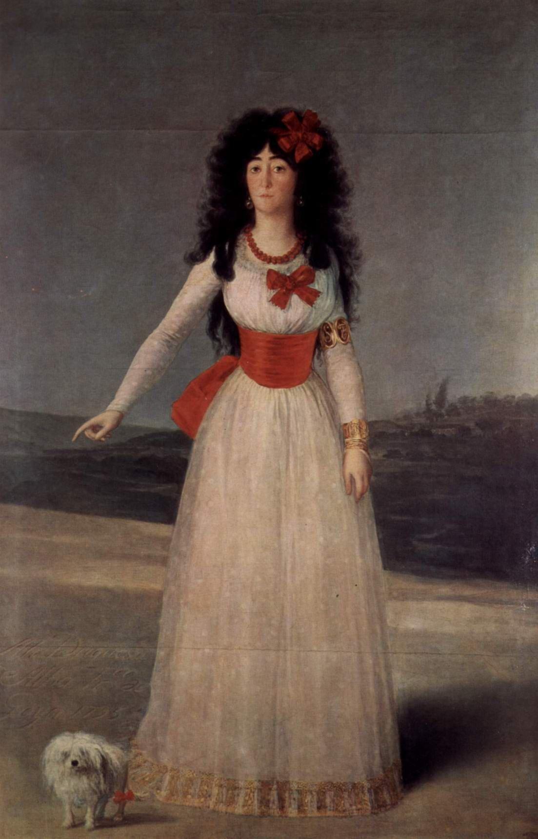 Гойя. Портрет Марии Терезы Кайетана де Сильва, герцогини Альба.