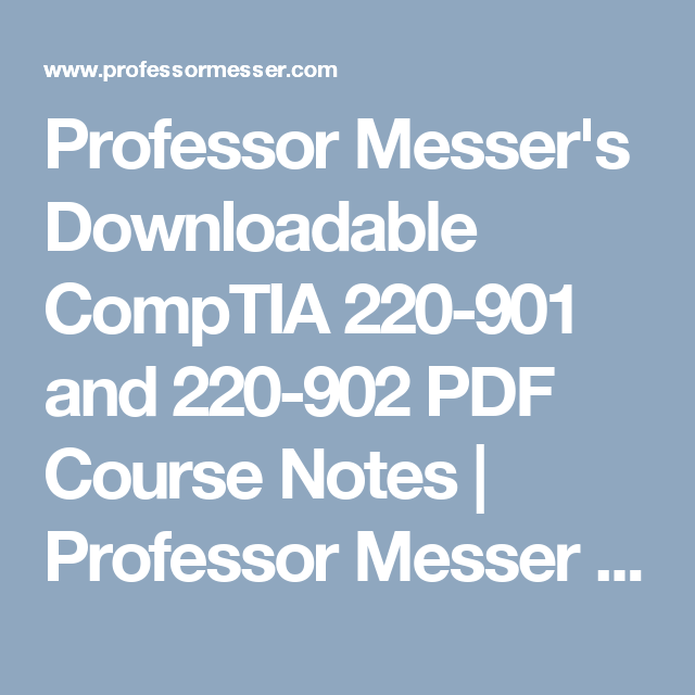 CompTIA A 220-901 and 220-902 Exam Cram downloads torrent