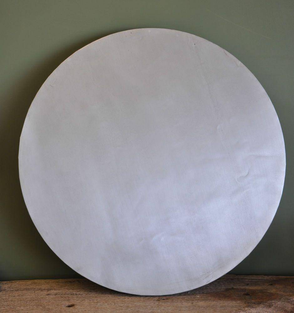 75 x 75 cm round Zinc table top | Zinc table top, Zinc ...