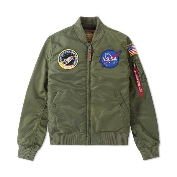 d70af7c19 Alpha Industries MA-1 VF NASA Jacket ❤ liked on Polyvore featuring ...