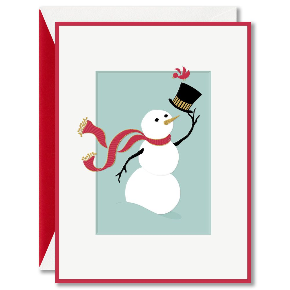 Snowman and Friend Boxed Greeting Cards: Before he hurries on his ...