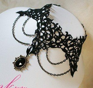 Wholesale New Arrival Best Selling Fashion Jewelry Vintage Black Lace Gothic Necklace LN1173 Buy One Get One Freeshipping