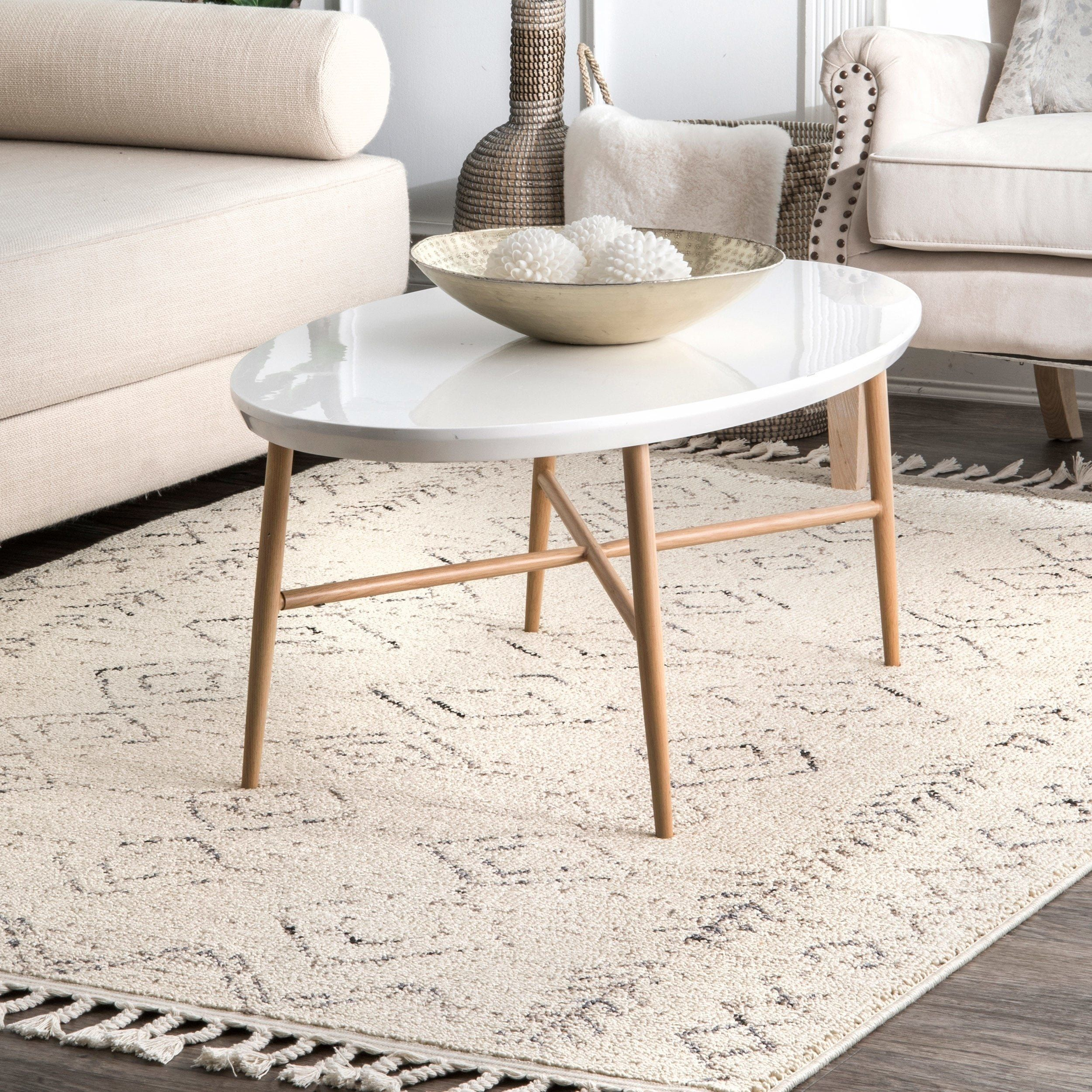 The Curated Nomad Ashbury Ivory Contemporary Geometric Moroccan Tassel Area Rug 5 X 8 Ivory Area Rugs For Sale Machine Made Rugs Area Rugs [ 2500 x 2500 Pixel ]
