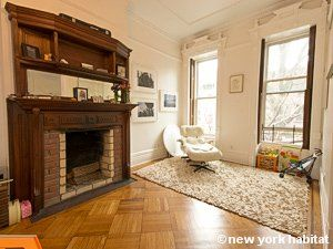 Bright Rooms Comfy Chairs And Brick Fireplaces Yes Please Stay In This Furnished Apartment Rental In P New York Apartment New York Apartments Apartment