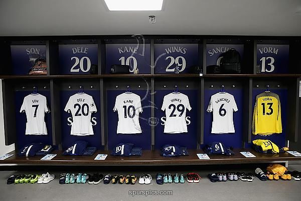 London England August 27 A General View Inside The Tottenham Hotspur Changing Room Prior To The Premier League Match Be Tottenham Hotspur Tottenham Burnley