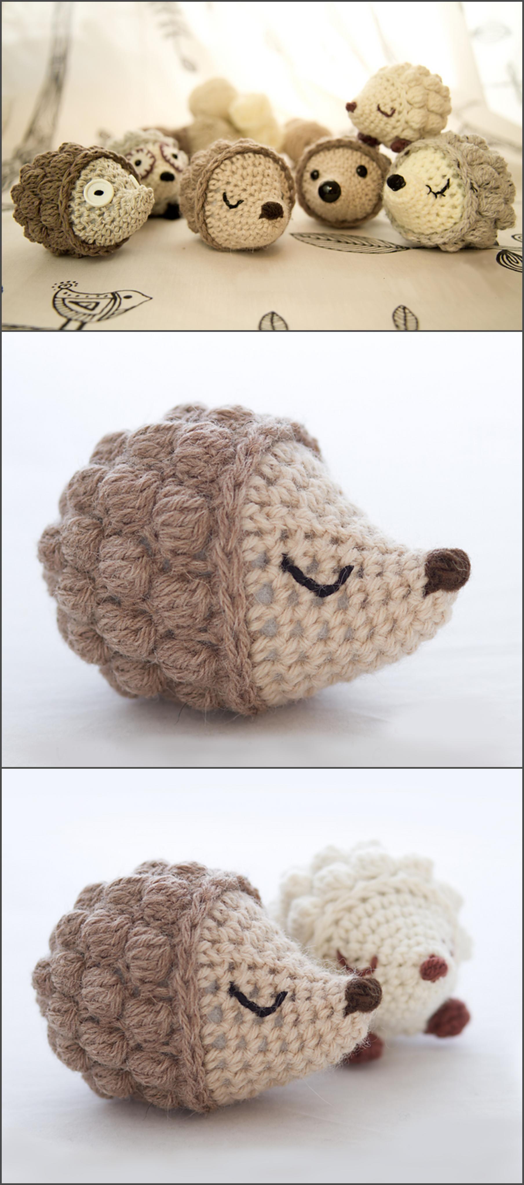 Crochet Bobble Hedgehog | Pinterest | Patrones amigurumi, Tejido y ...