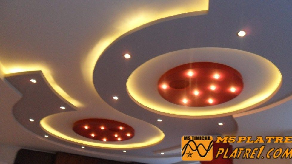 Image faux plafond platre soci t d coration ms timicha for Decoration faux plafond avignon