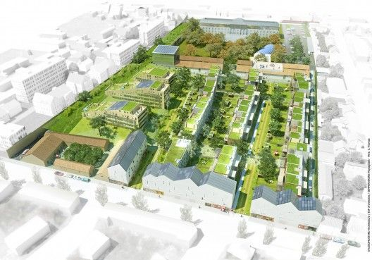 "EXP Architects and teammates Studiomustard Architecture, Sempervirens Landscape Designers and Even Conseil have won the design for the Ecodistrict ""Heudelet 26"" in Dijon, France.  Located in proximity to the city center, the new urban design will be the first of Dijon's Ecodistricts and serve as a model for later developments.  